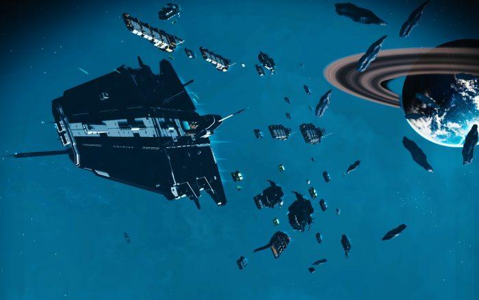 空母のような超大型貨物船も!宇宙艦隊を指揮しよう!