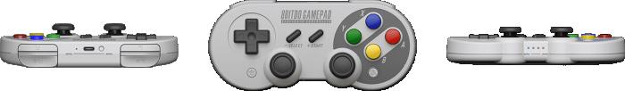 8Bitdo SF30 Pro GamePad 3方向から