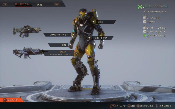 装備の箇所は5箇所。武器は2種類装備できる。