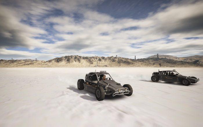 有名なウユニ塩湖で仲間とドライブ。