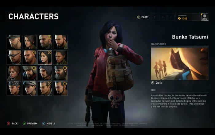 登場キャラクターは16人。それぞれのバックストーリーも見ることができる。