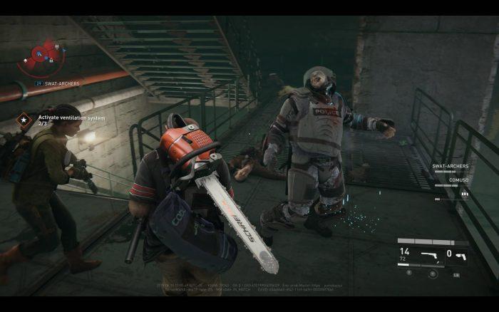 警察の防弾装備を身に着けた「Bull」は突進してプレイヤーを叩きつける厄介な敵。