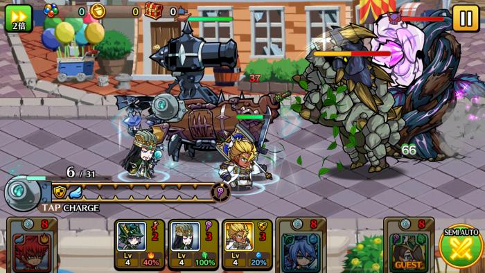 大砲船が印象的な戦闘シーン。