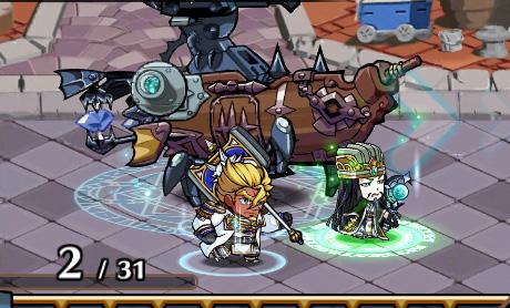 魔法陣の効果を受けたユニットの足元にも魔法陣のエフェクトが表示される。