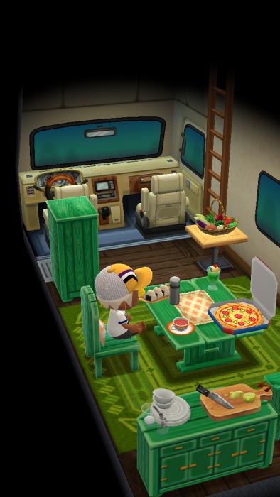 キャンピングカーの中にも家具を置くことができる。
