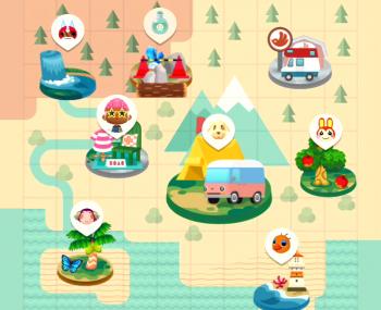 どうぶつの森 ポケットキャンプ マップ