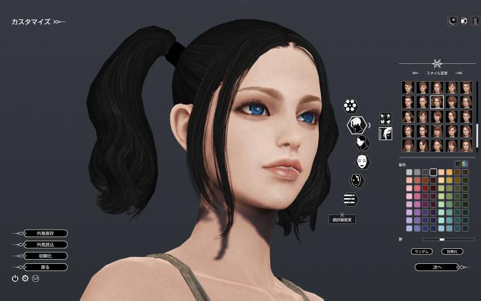 顔はそれほどいじれない。髪型の種類は豊富だが変な髪形も多い。