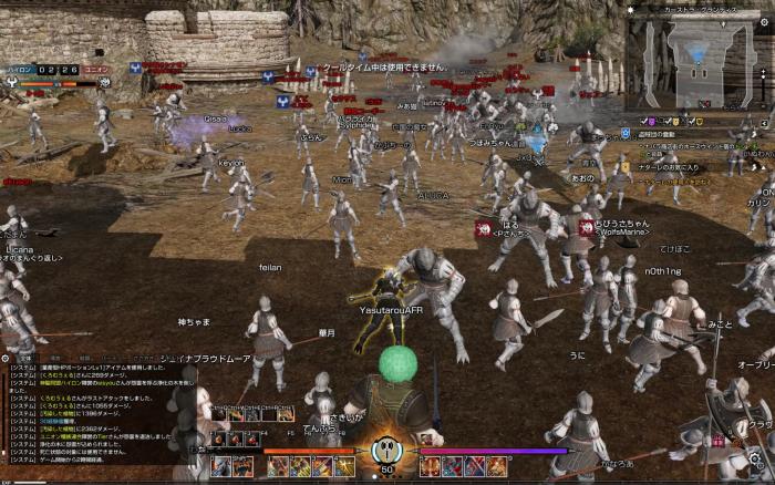 100vs100の激しい戦闘が繰り広げられる。