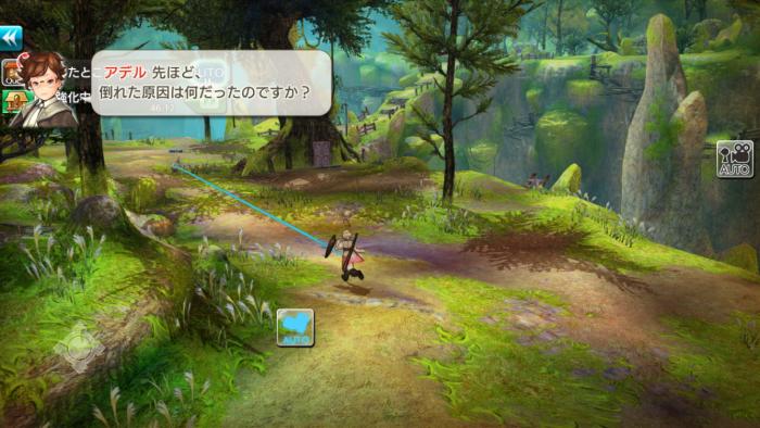 雰囲気のあるフィールドマップを自由に歩き回ることができる。
