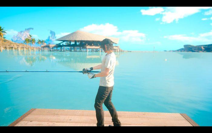 ノクトの趣味である釣り。結構本格的なルアー釣りを楽しめる。