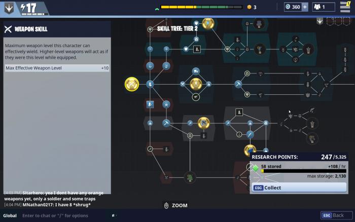 ツリーは4段階存在し、ゲームの進行とともに解放され、そのサイズもどんどん拡大していく。
