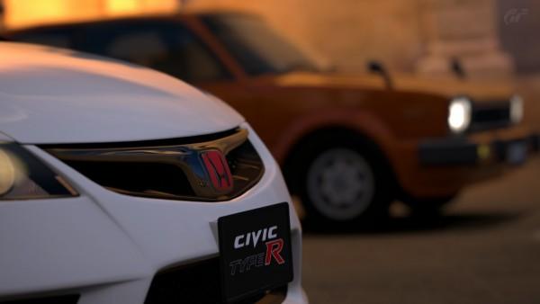 """スタンダードカー""""ホンダ シビック 1500 3door CX '79""""とプレミアムカー""""ホンダ シビック TYPE R '08"""" 撮り方次第でどうにでもなる例"""