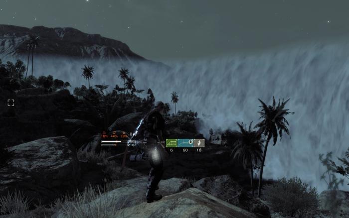 「塵」の外、クリアエリアからの眺め。