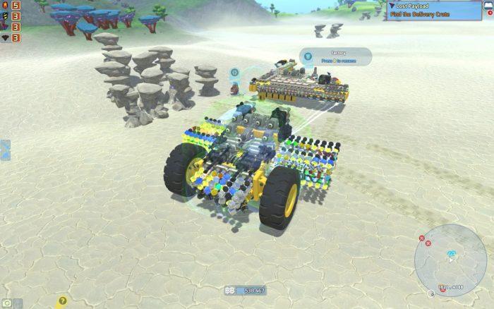 素材回収・運搬用に作った巨大Tech。火力も十分。